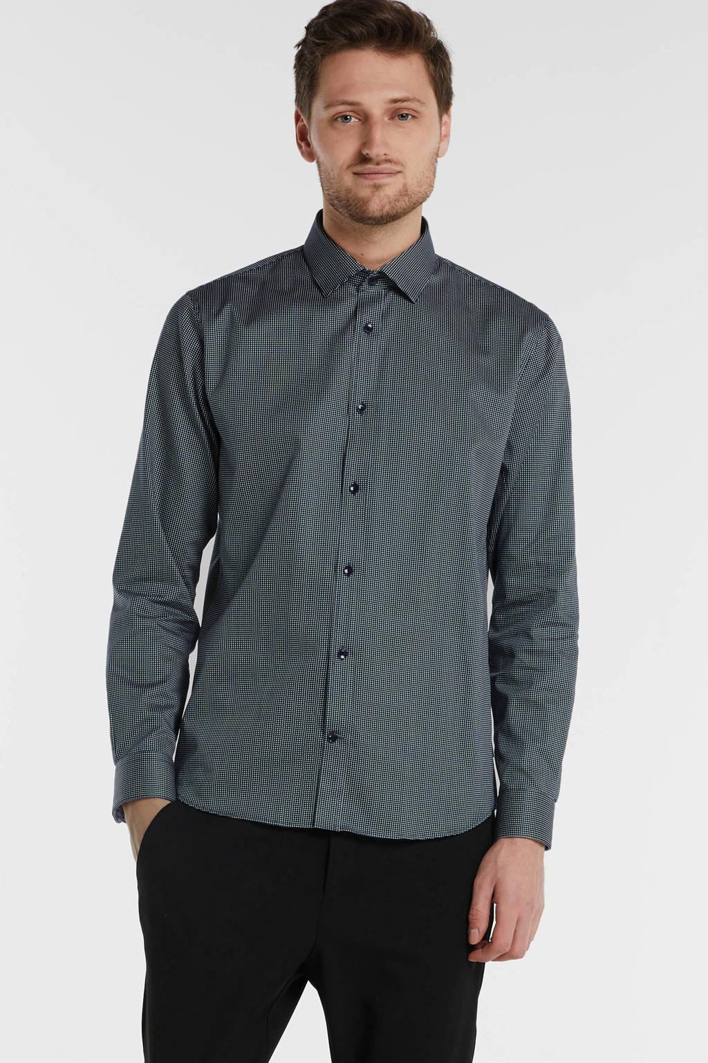 Matinique gemêleerd regular fit overhemd antraciet, Antraciet