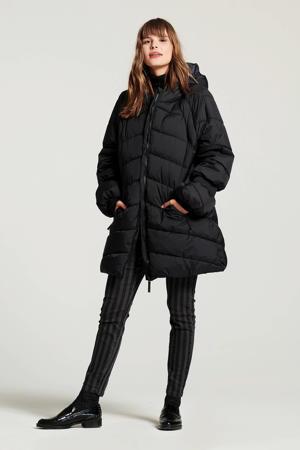 gestreepte skinny broek grijs/zwart