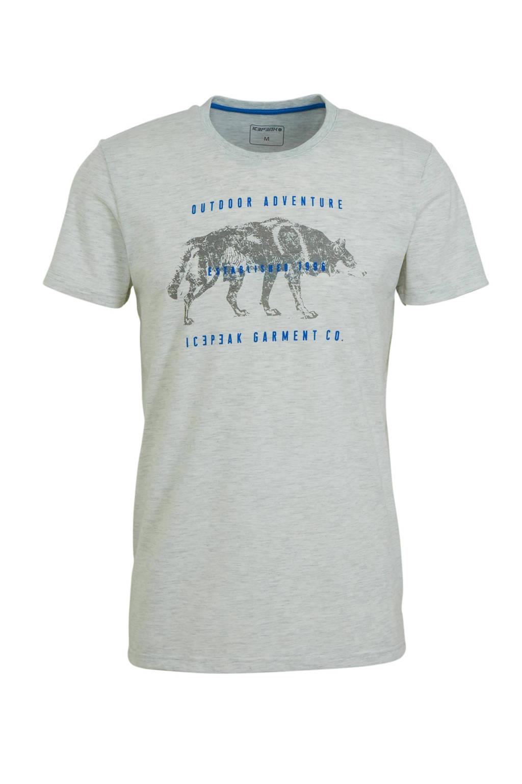 Icepeak outdoor T-shirt Baxter grijs melange, Grijs melange