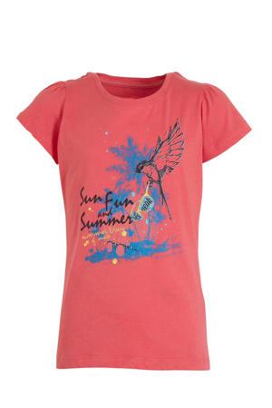 T-shirt Midland Jr. koraalrood