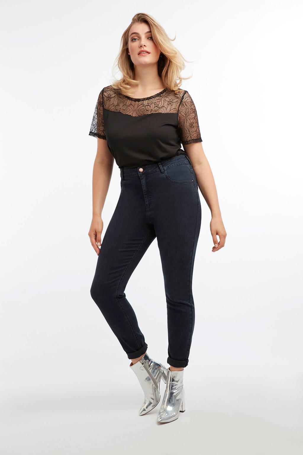 MS Mode skinny jeans donkerblauw, Donkerblauw
