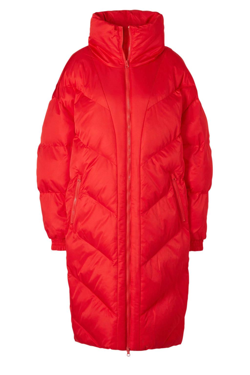 C&A gewatteerde jas rood, Rood