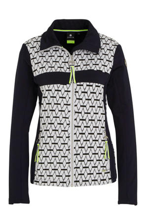 outdoor vest donkerblauw/wit