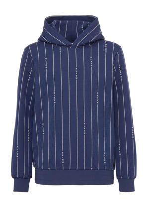 gestreepte hoodie donkerblauw/wit