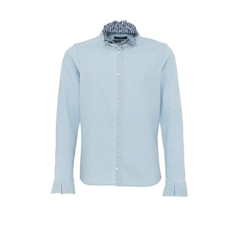 Scotch & Soda Amsterdams Blauw blouse met ruch