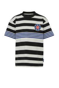 Scotch & Soda gestreept T-shirt ecru/donkerblauw/zwart, Ecru/donkerblauw/zwart