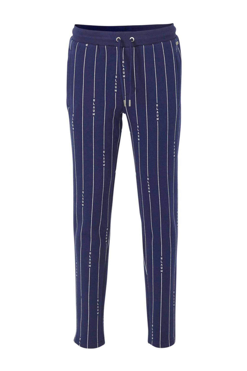 Scotch & Soda Amsterdams Blauw gestreepte skinny broek donkerblauw/wit, Donkerblauw/wit