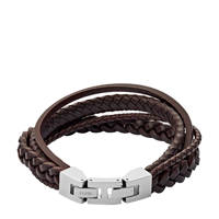 Fossil Vintage Casual Heren Armband JF03190040, Zilver