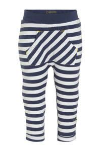 B.E.S.S baby gestreepte broek donkerblauw/wit/geel, Donkerblauw/wit/geel