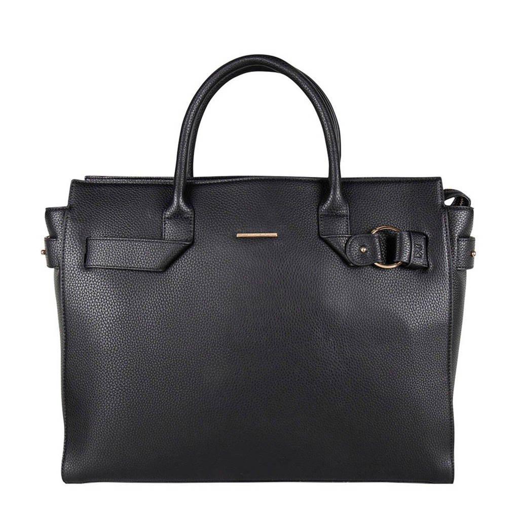 Mister Miara   vegan leather handtas zwart, Zwart