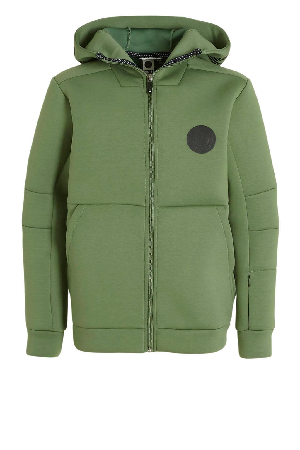 Tumble 'n Dry Hi scuba vest Gabe met capuchon groen, Groen