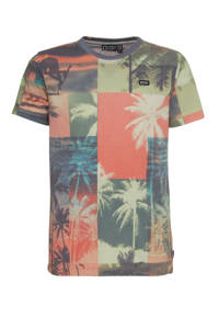Tumble 'n Dry Hi regular fit T-shirt Gwendel met all over print oudroze/blauw/groen, Oudroze/blauw/groen