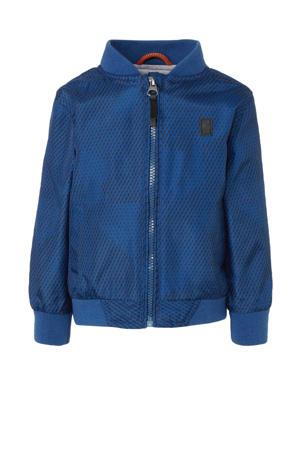 zomerjas Tilson met all over print blauw/zwart