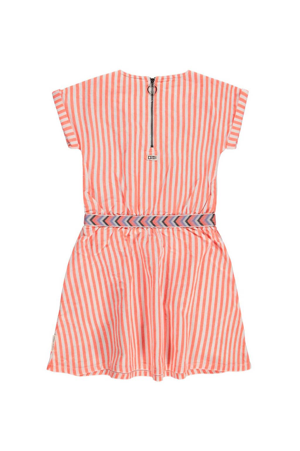 Tumble 'n Dry Mid gestreepte jersey jurk Lively oranje/ecru, Oranje/ecru