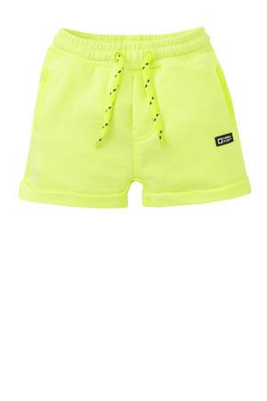 regular fit short Tjester neon geel