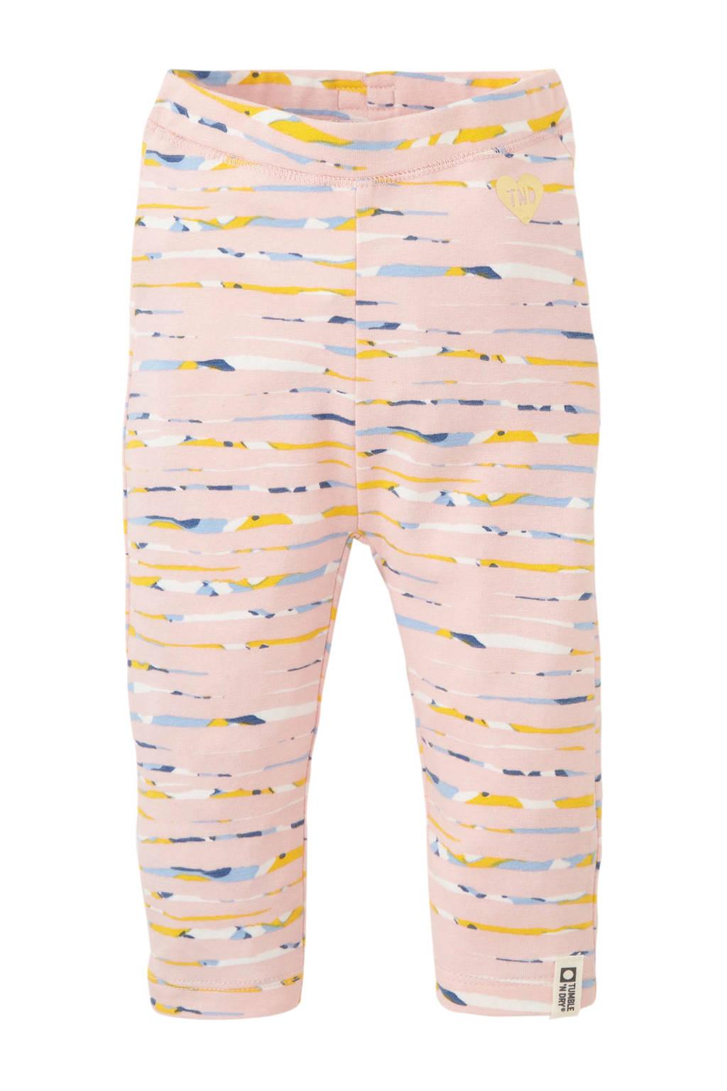 Tumble 'n Dry Zero baby legging Marieke met all over print lichtroze/geel/lichtblauw, Lichtroze/geel/lichtblauw
