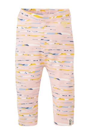 baby legging Marieke met all over print lichtroze/geel/lichtblauw