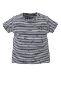 Tumble 'n Dry Zero baby gestreept regular fit T-shirt Tamiz donkerblauw/wit, Donkerblauw/wit