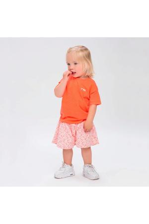 gestreept T-shirt Mona oranje/wit