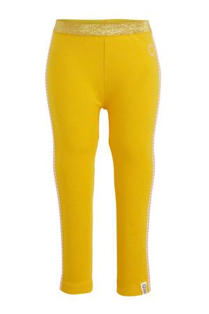 super skinny legging Melis met zijstreep geel/lichtroze/rood