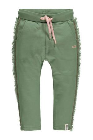 regular fit joggingbroek Marilou met zijstreep groen/roze