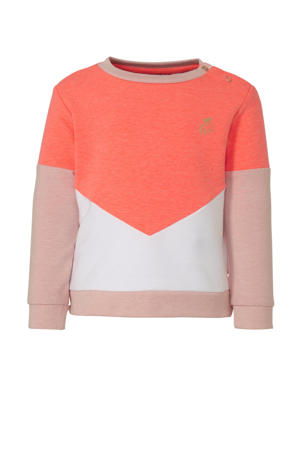 sweater Miene koraalrood/lichtroze/wit