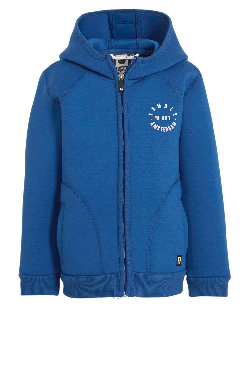 Tumble 'n Dry Mid zomerjas Willy met tekst blauw/wit, Blauw/wit