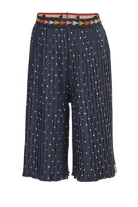 Tumble 'n Dry Mid loose fit culotte Lieva met stippen donkerblauw/wit, Donkerblauw/wit