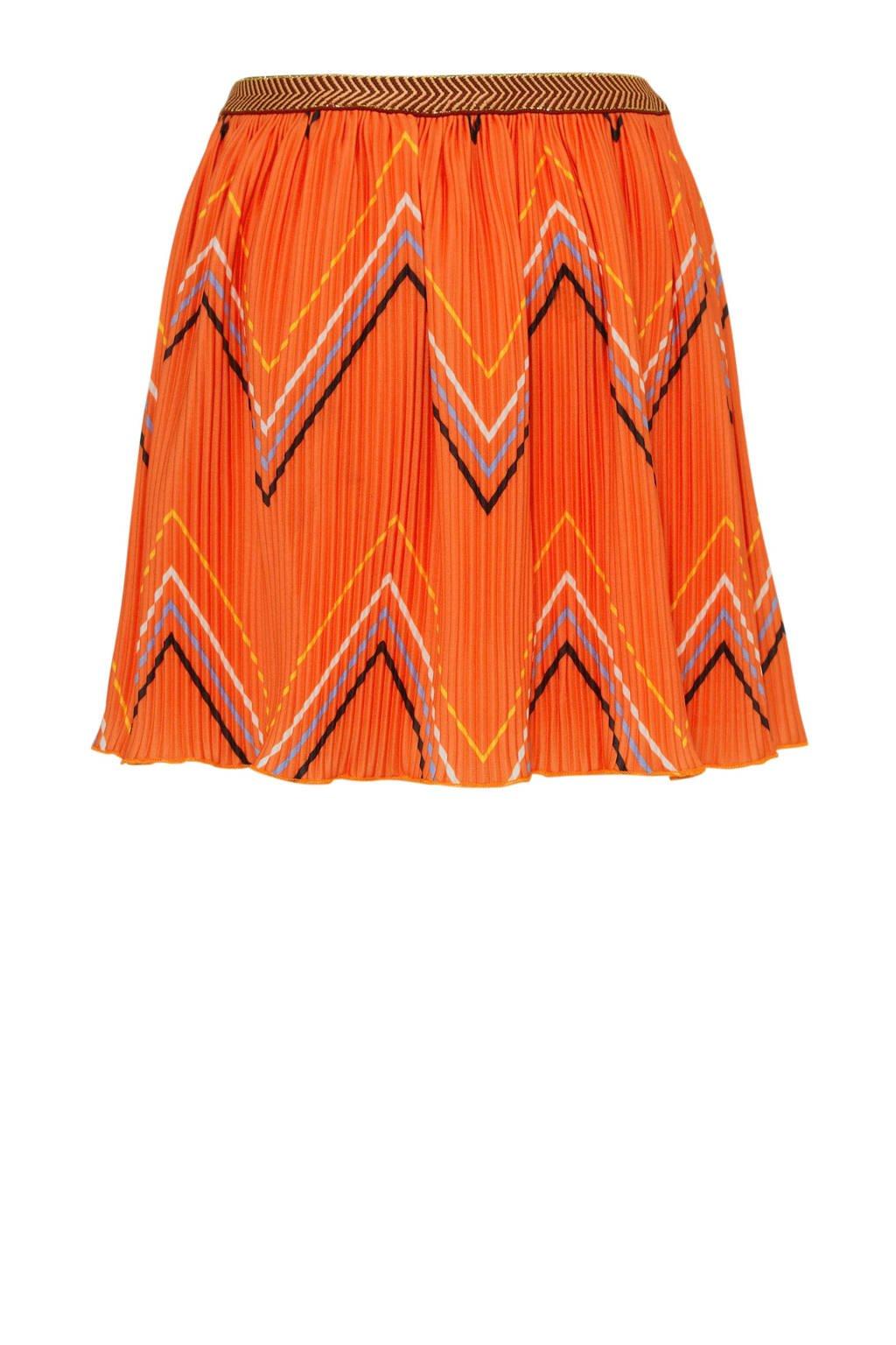 Tumble 'n Dry Mid rok Lolita met all over print oranje, Oranje