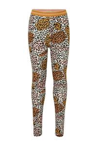 Tumble 'n Dry Mid super skinny legging Lesta met panterprint okergeel/lichtroze/bruin, Okergeel/lichtroze/bruin