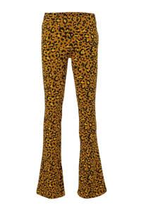 Tumble 'n Dry Hi flared broek Steph met panterprint bruin/okergeel/zwart, Bruin/okergeel/zwart