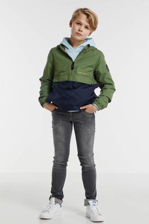 zomerjas anorak Gitter groen/donkerblauw