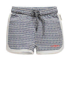 regular fit short Mienke wit/blauw
