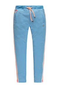 Tumble 'n Dry Mid slim fit broek Luce met zijstreep lichtblauw, Lichtblauw