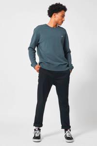 America Today sweater met printopdruk grey/blue, Grey/blue