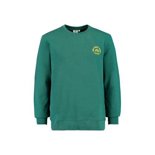 America Today sweater met printopdruk green