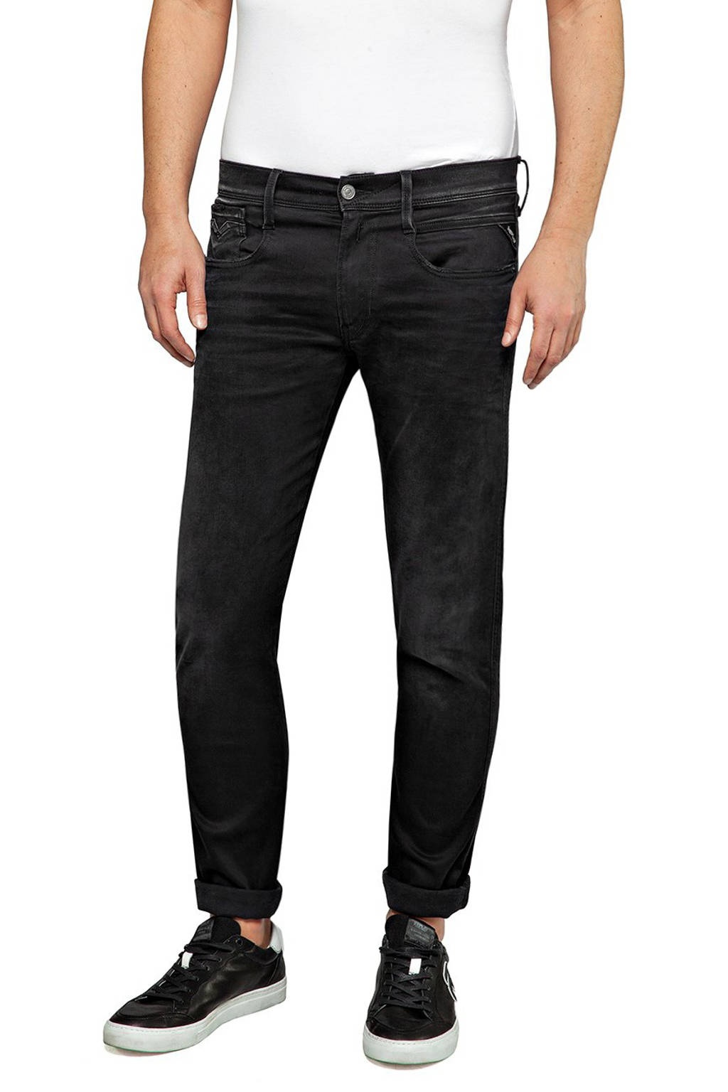REPLAY slim fit jeans Anbass black, Black