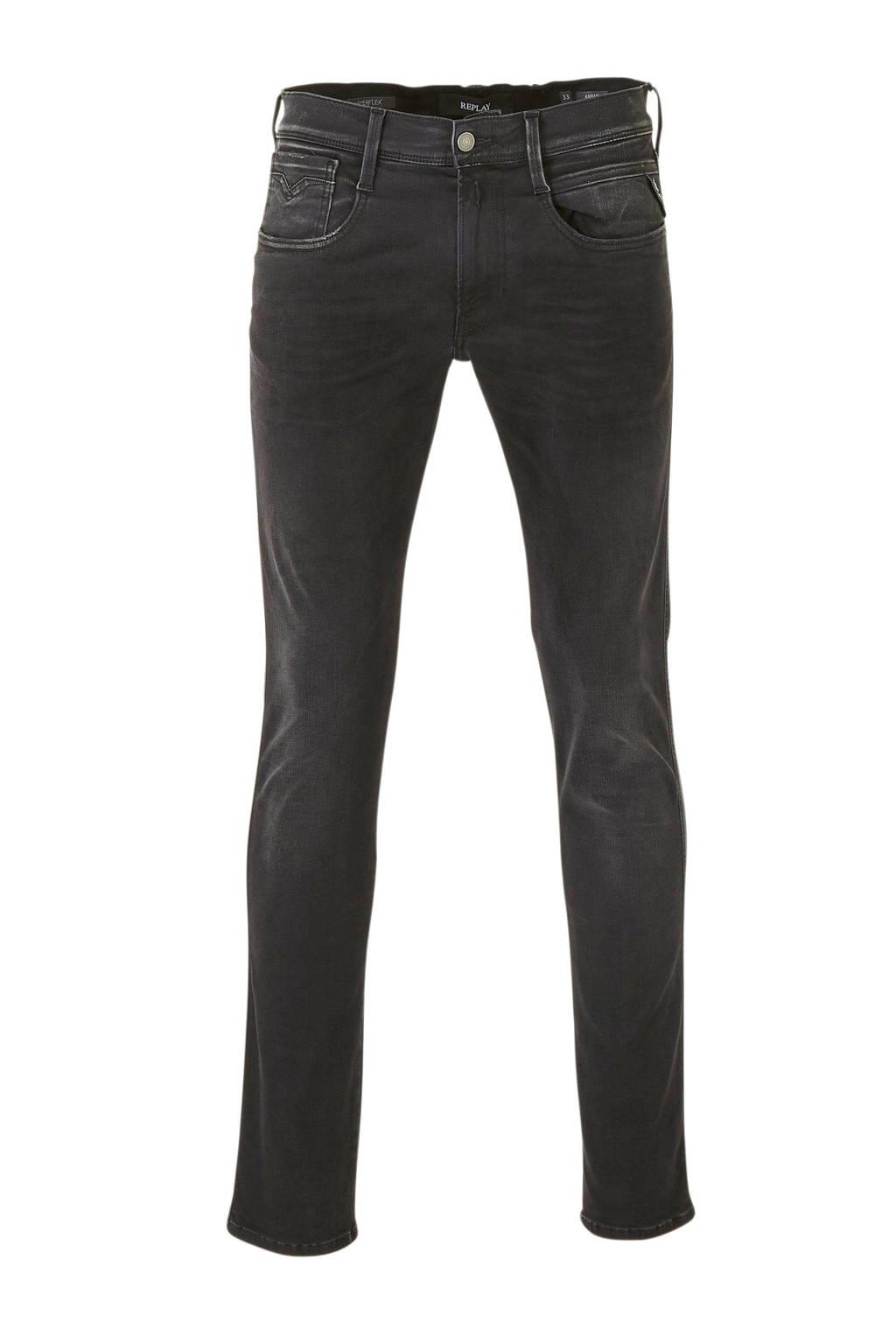REPLAY slim fit jeans Anbass black, Black