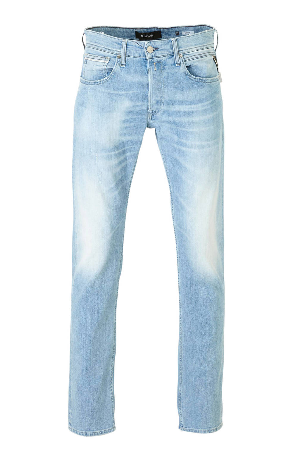 REPLAY straight fit jeans Grover light blue, Light Blue