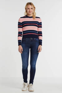 REPLAY skinny jeans Hyperflex donkerblauw, Donkerblauw
