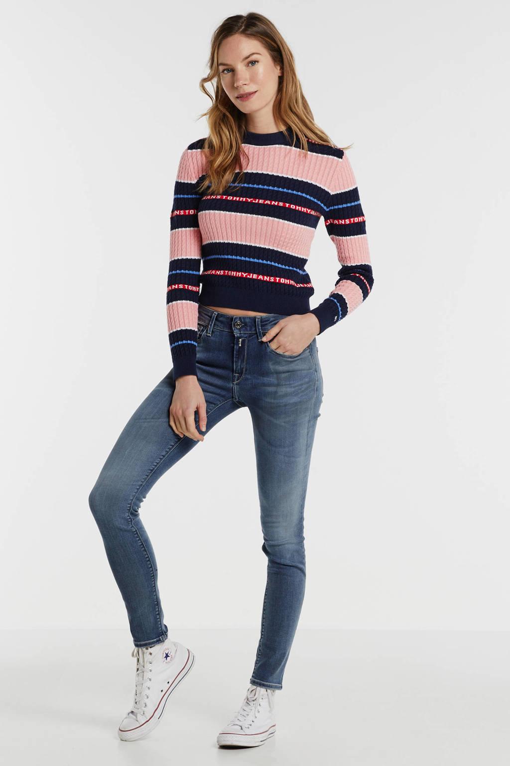REPLAY Hyperflex bio slim fit jeans blauw, Blauw