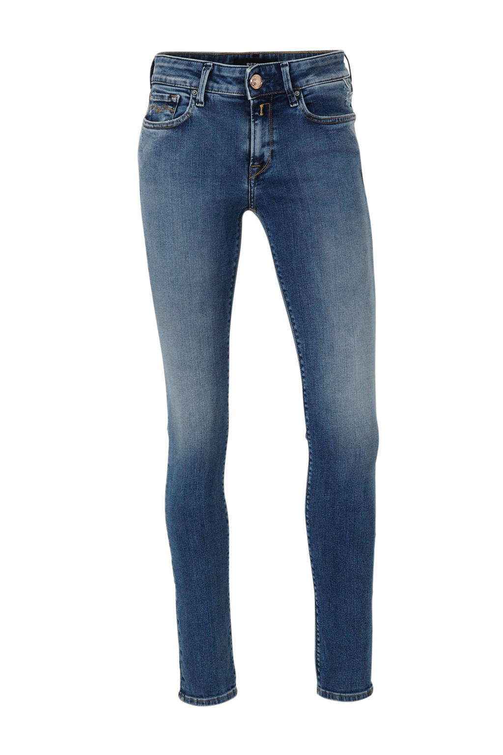 REPLAY skinny jeans NEW LUZ blauw, Blauw