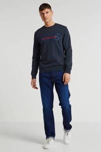 Scotch & Soda sweater met tekst zwart, Zwart