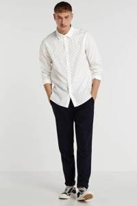 Scotch & Soda regular fit overhemd met all over print wit, Wit