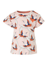 Tumble 'n Dry Lo regular fit T-shirt Mical met all over print lichtroze/oranje/blauw