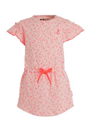 jersey jurk Mirtie met all over print roze