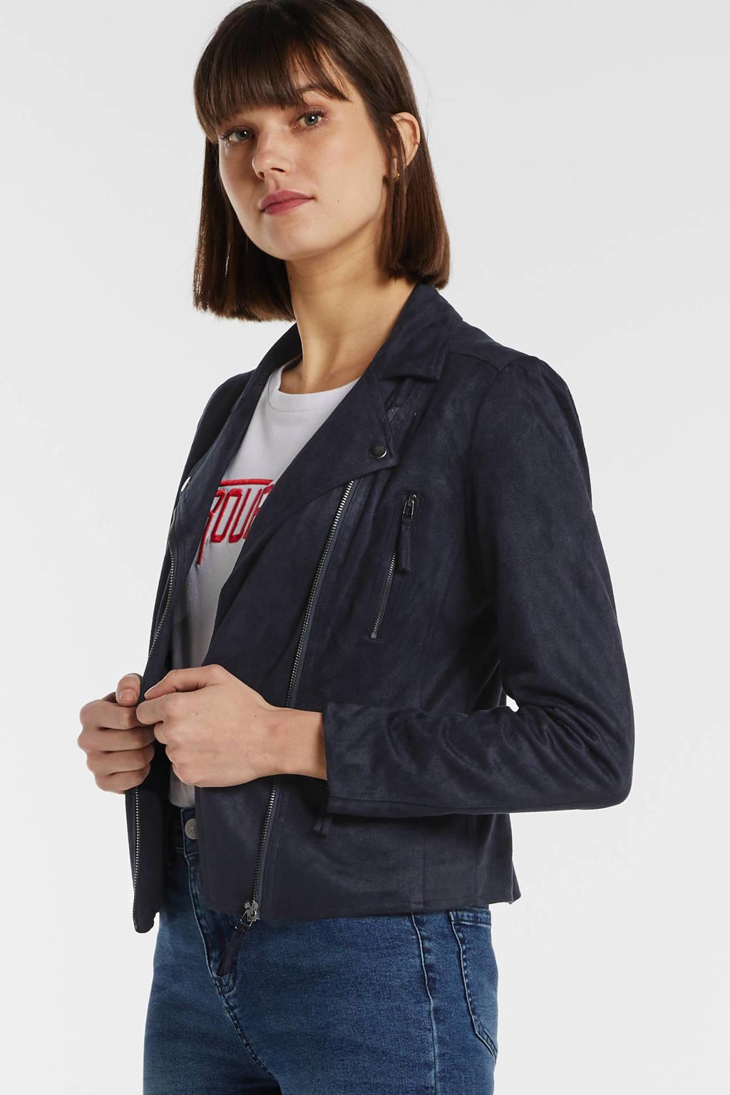 FREEQUENT jasje donkerblauw, Donkerblauw