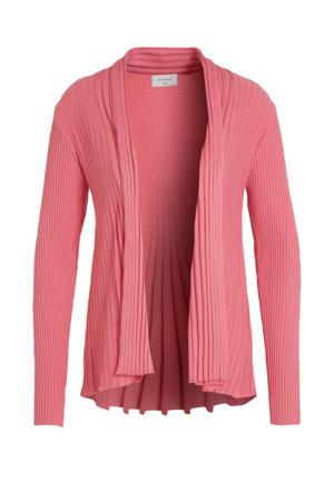 vest met plooien roze