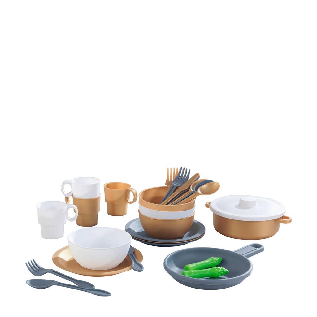 KidKraft  Speelgoed keukenset 27-delig - Modern Metallics