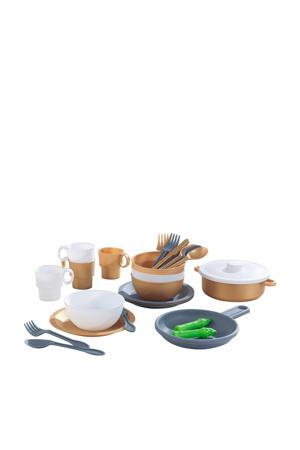 Speelgoed keukenset 27-delig - Modern Metallics